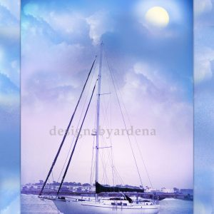 Blue Night Sailing